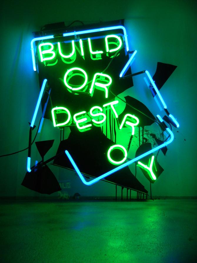 Destroyed Buildings Build or Destroy Neon